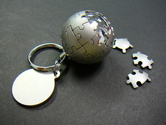 Wikipedia globe in a keychain! (@bastique) Tags: globe keychain wikipedia wikipediaglobe wikipedialogo