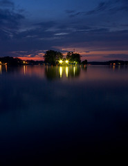 Photographer Caught in Headlights. (Chris Arace) Tags: sunset storm clouds mi lights goinghome lakeorion heightsrd