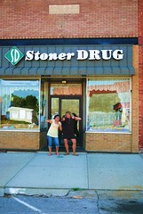 Kris & Kimina at Stoner Drug (KaneJamison.com) Tags: sign kristina july iowa drugs stoner 2007 villisca kimina