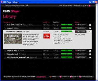 iPlayer Library