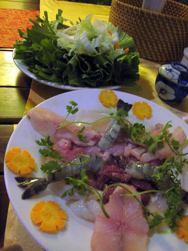 Raw seafood for my Lau Nam Bo - seafood hot pot