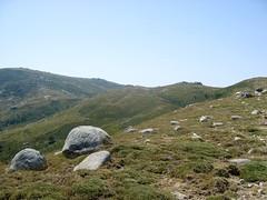Sur le tracé jaune de Bocca di Chiralba/Alcudina : la trace rejoint la crête près du point 1726