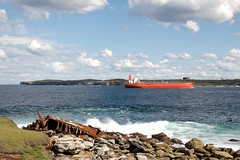 ship and wreck (yewenyi) Tags: orange rust ship ss australia nsw newsouthwales wreck aus tanker freighter oceania laperouse capebanks minmi ssminmi