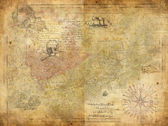 Treasure map (think4d) Tags: lines monster skull ship treasure map background chest landmark pirate  seeruber schatzkarte