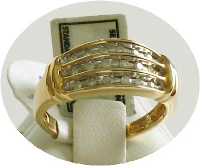 10K Y.G. .25 CT Diamond Ring