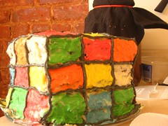 October 2007 (truepanther) Tags: birthday party man glass cake vegan melanie cube forever rubiks dosa kumar thiru