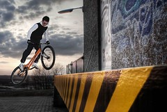Biketrial Bayreuth (noomrise) Tags: street urban sports bike sport ramp shot action extreme mountainbike trial 1740mm velo bayreuth loading biketrial 430ex ettl laderampe 580exii