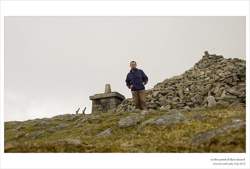 On the summit of Slieve Donard