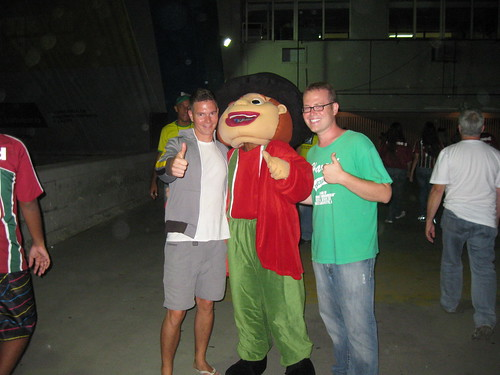 With the Fluminense mascot