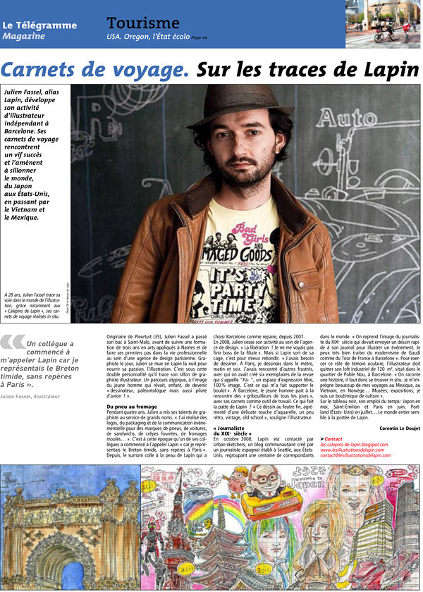 "interview in french newspaper ""le telegramme"""