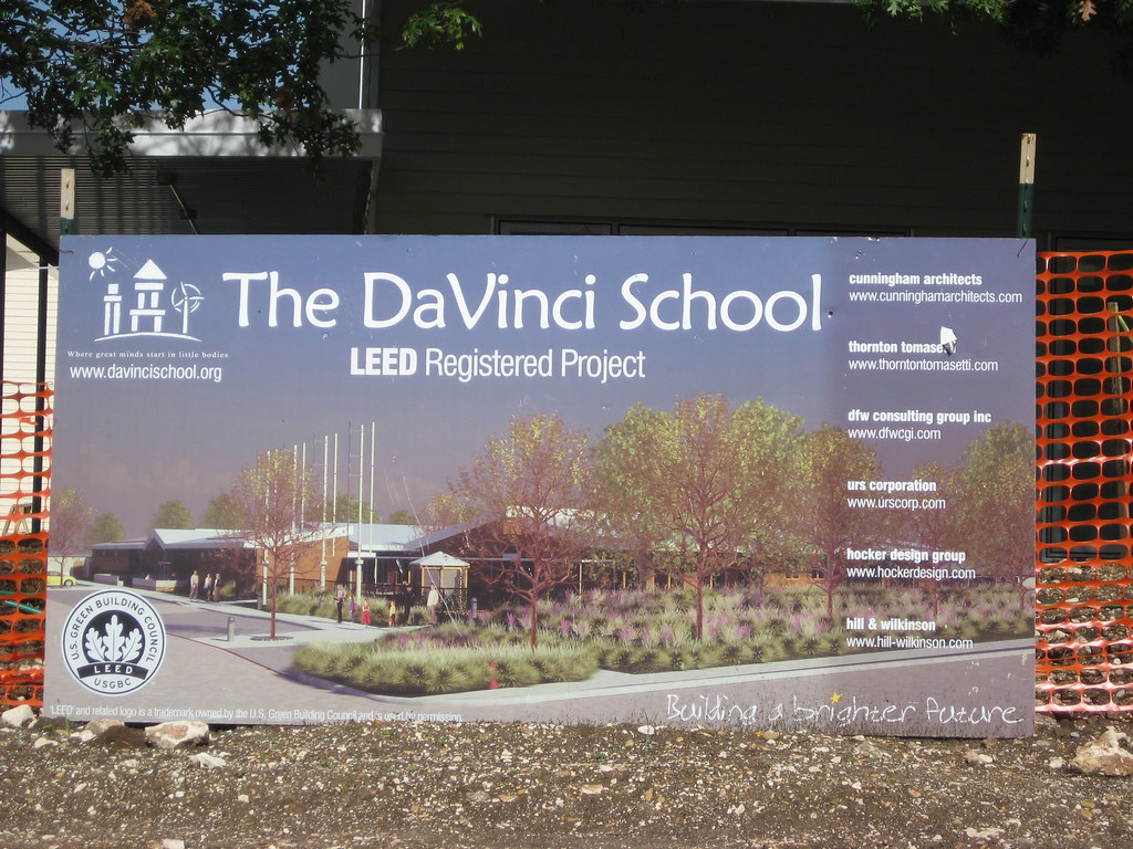 The da Vinci School's new campus is a registered LEED facility