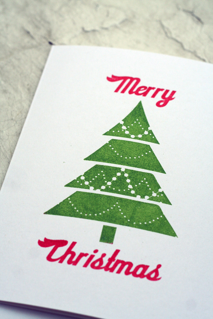 Red & Green Christmas Card