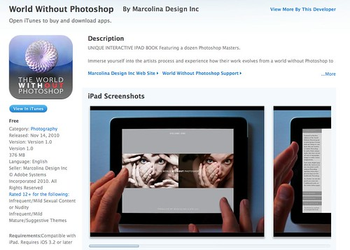 The World Without Photoshop book for iPad released in iTunes Store!