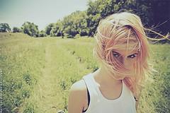 Sunny road (basistka) Tags: road portrait woman girl canon hair eos poland sunny 7d basistka