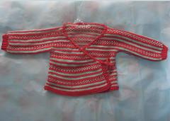 fairisle stripes baby kimono