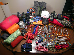 Packing for the Red River Gorge (mike.palic) Tags: camping packing gear climbing rack notesarefun