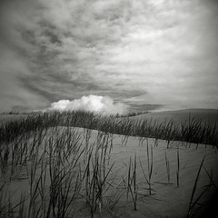 Clouds over Sleeping Bear Point (Matt Callow) Tags: holga michigan trix sleepingbeardunes redfilter leelanau artistresidency glenarborartassociation