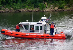 The U.S. Coast guard protecting Nashville's shore