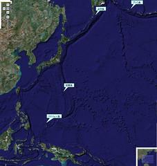 占守島と日本周辺