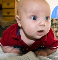 There Must Have Been Food (jfravel) Tags: blue face kid eyes infant child son iowa christian fourthofjuly godson independence salix brownslake fravel jfravel christianfravel