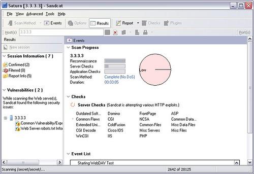 Sandcat by Syhunt – Web Server & Application Vulnerability