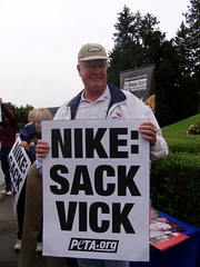 June 2007 rally against Vick's Nike sponsorship