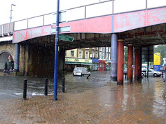 Lewisham Railway Bridge (Andwar) Tags: london water rain flood lewisham floods downpour