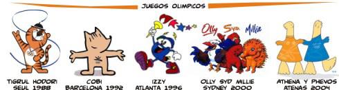 mascotas de juegos olímpicos