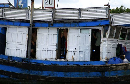 Houseboat on the Mekong