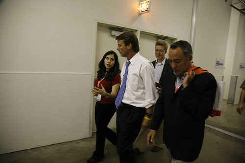 "Jennifer Pozner's ""West Wing""-esque walk-and-talk moment with John Edwards"