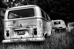 Busted Peace (Desolate Places) Tags: abandoned volkswagen peace maine coastal vans busted transporter westfalia singlecab typeii thebugshop