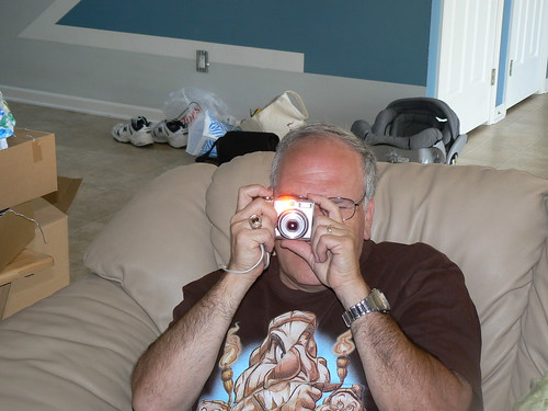 Papa taking a picture