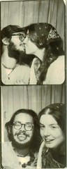photo booth (bballchico) Tags: seattle love happy kissing photobooth joel young husband 70s wife eileen eileenmurphy joelguevara