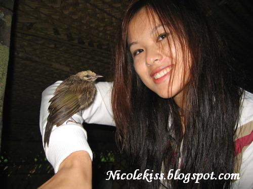 a wet bird and a wet nicole