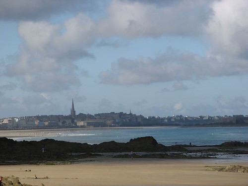 Saint-Malo seen from Rochebonne beach