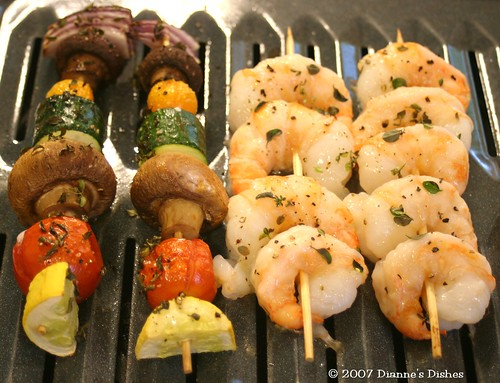 Shrimp and Veggie Kabobs