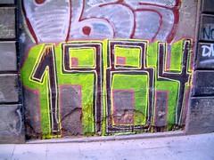 bs45_1984 (phluids) Tags: barcelona street streetart 2004 spain spanish 1984 multicolor