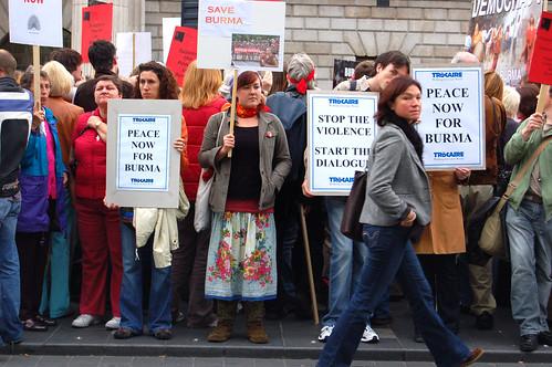 Burma protest