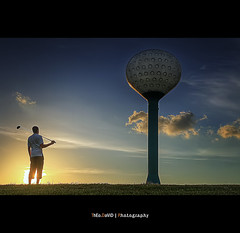 How am I going to play this giant golf ball... (Feo David) Tags: blue sunset portrait sky usa cloud sun clouds america self canon ball golf giant island eos texas play unitedstates course explore driver 5d frontpage portarthur etatsunis plaisure