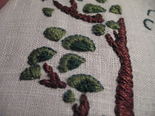 pocket - embriodery detail