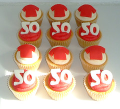 man united 50th birthday cupcakes (sweet bakery) Tags: birthday ireland wedding party man cakes cookies cake kids children cupcakes photo football dad sweet anniversary contemporary character united traditional belfast celebration novelty cupcake bakery u graeme childrens 50 northern retirement finlay childrens kids