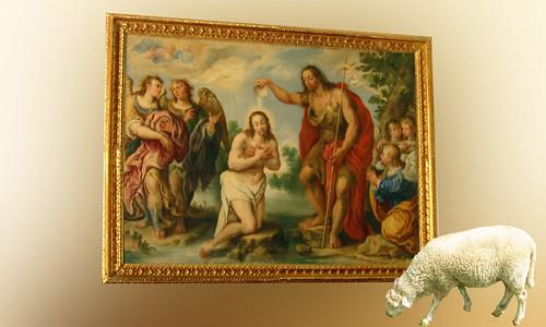 San Juan bautiza a Cristo