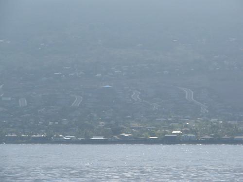 Kona coast in vog