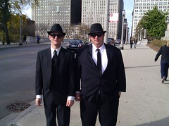 Jake and Elwood - The Blues Brothers in #Chicago on their way to the #Rally4Sanity (www.krecu.net) Tags: by photo todor krecu httpwwwkrecucom sanityandorfear