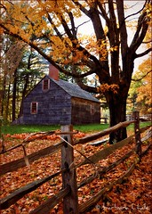 Little House (blamstur) Tags: autumn house tree fall museum fence massachusetts sturbridge oldsturbridgevillage livingmuseum 15challengeswinner