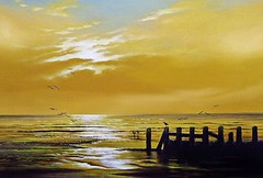 Sunrise Gorleston (KEITH HASTINGS) Tags: uk england beach sunrise norfolk paintings hastings oils gorleston oilpainting gorlestonbeach keithhastings