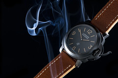 Smoking hot Panerai 360 (martin wilmsen) Tags: smoke wristwatch skyport panerai smoketrails strobist officinepanerai pam360