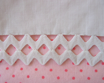 rickrack pillowcase