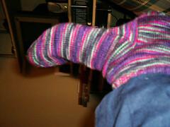 northern lights finished socks left instep