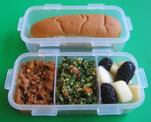 DIY Sloppy Joe lunch for preschooler